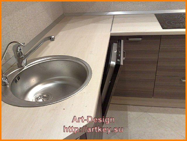 установка посудомоечной машины в современной кухне модерн