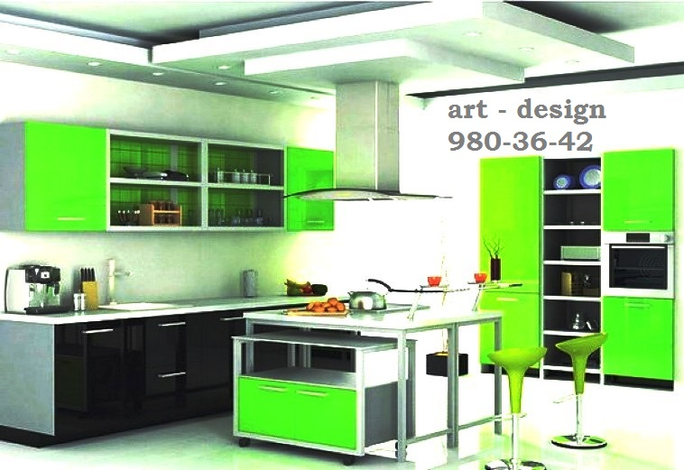 """Custom Kitchens in St. Petersburg The company """"ART Kitchens - Design"""" produces and sells cheap food to order in St. Petersburg and Leningrad region, production is located in Krasnogvardejskiy area. Today, we offer a variety of options in kitchen with a wide price range, cheap food to order and exclusive dishes. Custom made kitchens - perfect for apartments or non-standard dimensions of country houses. This kitchen is able to emphasize any room style and refined taste of its owner. If you want to make your interior a harmonious and unique - order manufacturing of kitchen furniture in our organization! In the production of kitchen furniture we use quality materials and fittings, modern equipment and advanced technology. We value our customers, so we have affordable prices for kitchen sets and professional service from project design kitchens to its assembly and installation. On our web site are the photos made kitchen sets, which you can find and book the kitchen in St. Petersburg and Leningrad region in their individual parameters. Only branded hardware, rich colors and a wide range of materials, a variety of models of facades, delivery and installation of furniture for St. Petersburg and Leningrad region will allow each customer to find the right solution for design furniture and buy kitchen inexpensively. Our advantages 1 Reasonable prices. Quality and affordable cuisine in St. Petersburg - it's real, if you refer to the trusted manufacturers' Kitchen Art - Design. """"Our prices are formed by reducing costs, but not at the expense of the quality of the furniture or used materials and accessories. 2 Individual approach. Each kitchen set from the furniture manufacturer """"Kitchen Art - Design"""", made to order - an exclusive product that is fully consistent with the wishes of the customer. 3 Services of assembly and installation of furniture. Additionally, for each, we offer professional services for building and installing kitchen furniture in St. Petersburg and Leningrad"""